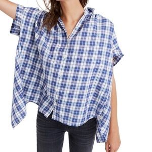 Madewell Central Open Back Plaid Button Shirt S